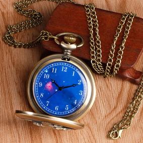 Relógio De Bolso Pequeno Principe Bronze C Corrente Colar