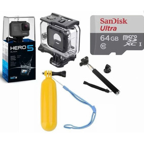 Go Pro Hero5 Black Camera Gopro 5+cx Estanque+64 Gb+2 Bastao