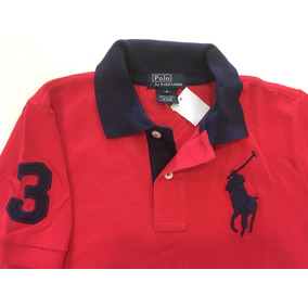 Camisa Polo Ralph Lauren Big Poney Infantil Tam 6 Original 3fb2c95434f