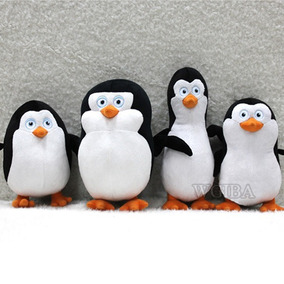 Kit 4 Pelucia Pinguim De Madagascar Rico Skirpper Pinguins