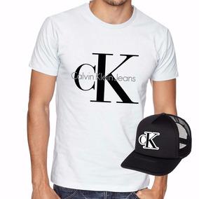 Camisa Camiseta + Boné Kit Masculina Moda Fashion