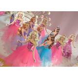 30 Bustos Barbie Para Tubete Enfeite De Mesa 7,5cm
