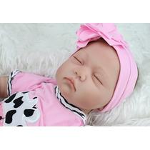 Boneca Bebê Reborn Realista Silicone 55 Centímetros