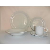 Platos,tazas Loza Para Banquetes Mauve120 Piezas Blancas
