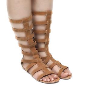 Sandália Zariff Shoes Gladiadora Rasteira | Zariff