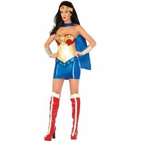 Disfraz De Lujo De Mujer Maravilla Para Damas Envio Gratis