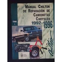 Manual Chilton De Reparacion De Camionetas Chrysler 1992-199