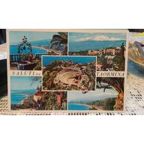 Postal Estampilla Italia 500 Liras 1987 Taormina Sicilia
