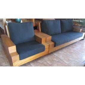 jogo de sof rustico poltronas madeira peroba