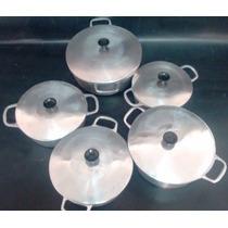 Jogo De Panelas Em Aluminio Fundido Direto Da Fabrica 5 Pças