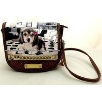 Bolsa Pequena Cachorro Beagle Hello Original Rafitthy