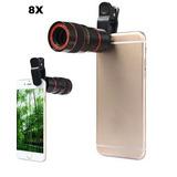 Lente 8x Zoom Para Iphone Samsung Nokia Lg Blackberry Y Mas