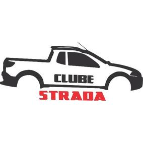 Kit 3x Adesivo Clube Strada Carro Personalizado 15cm A217