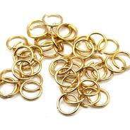 500 Argolas Douradas Em Alumínio Montagem De Lustres 09mm