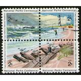 Estados Unidos Serie En Cuadro Parques Nacionales Año 1972