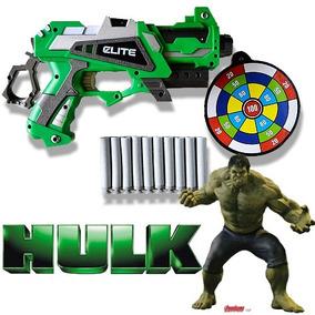 Arma Brinquedo Pistola Nerf Atira Dardo Incrivel Hulk Avenge