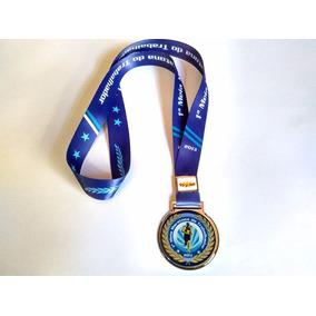 50 Medalhas Resinadas Em Metal Com Fitas Personalizadas.