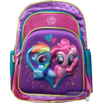 My Little Pony Mochila 3d Primaria Twiligth Rainbow Pinkypie