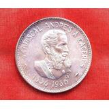 Peru Moneda De Plata Conmemorativa Caceres 100 Intis 1986