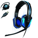 Enhance Gaming Headset Con 7.1 Surround Virtual Sound, Il...