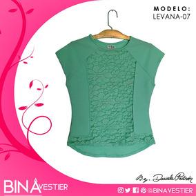 Blusas Levana En Rice Y Blonda - Bina Vestier