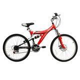 Bicicleta Lahsen Mtb Aro 24 Twister 18 V.doble Susp.