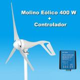 Molino Eólico 400 W Turbina Incluye Controlador Generador
