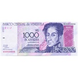 Billete 1000 Bolívares Sept De 1998 Serial Bajo B00024959
