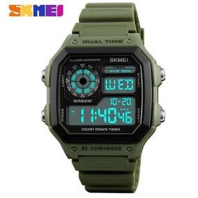 602f4cf9507 Relogio Masculino Smart Quadrado Digital Pulso - Relógio Masculino ...