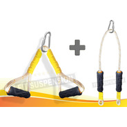 Kit Corda Puxador Triângulo + Tríceps Profissional Bem Forte