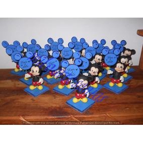Souveniers De Mickey Mouse (15 Unidades) En Porcelana Fría
