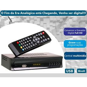 Conversor Digital Gravador Para Tv Full Hd 1080 Frete Grátis