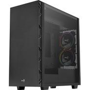 Gabinete Gamer Aerocool Flo Saturn Frgb Negro Tg Media Torre