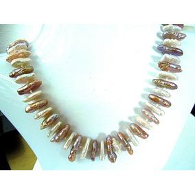 4a6f5373aef1 Elegante Collar De Perla Biwa - Collares y Cadenas en Mercado Libre ...