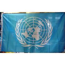 Bandera Onu O Naciones Unidas Medida Oficial 90 X 1.50