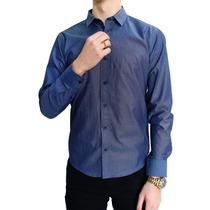 Camisa Manga Larga Estampado Puntos A.marino