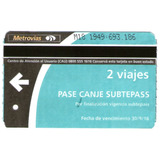 Subtepass - Pase Canje Por Finalizacion De Vigencia -usado-