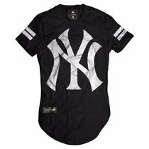Camisa Camiseta Oversized Longline Masculina Ny Kings Swag