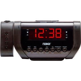 Rádio Relógio Digital Naxa Nrc-167, Preto