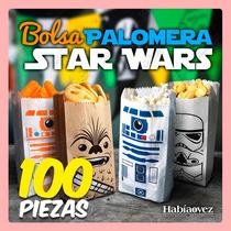 Paquete De 100 Bolsas Para Palomitas De Star Wars
