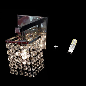 Arandela Parede Lustre Cristal Interna + Lâmpada G9 Bq 220v