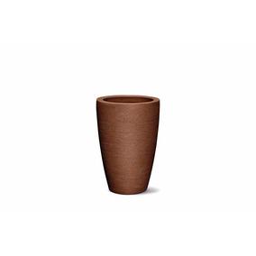 Vaso De Planta Grafiato Conico 65 Ferrugem Nutriplan