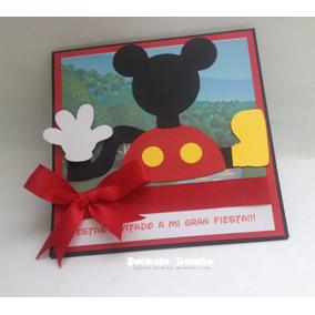 Invitacion Tipo Marco La Casa De Mickey Mouse