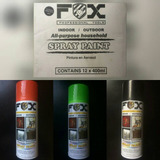 Pintura En Spray Fox Gris Blanco Azul Rojo Amarillo Fluores*