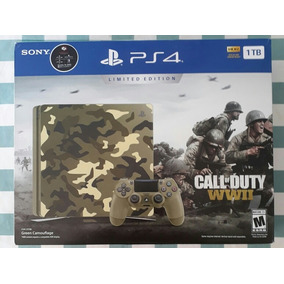Ps4 Slim De 1tb Edição Limitada Com Call Of Duty Ww2.