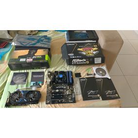 Placa Mãe Asrock Z77 Extreme4 C/ Pro Intel E Placa De Video