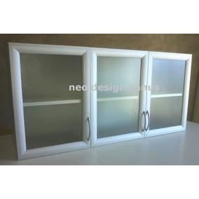 Alacena Puertas Verticales Vidrio, Marco Aluminio - Fabrica