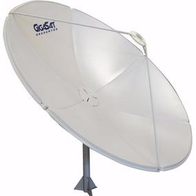 Suporte Lnb Ku + Antena Parabólica Chapa 180cm Banda C Ku