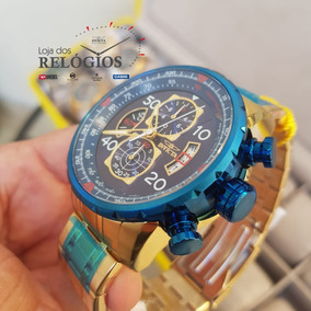 Relógio Invicta Aviator 19173 Original B.ouro + Brinde