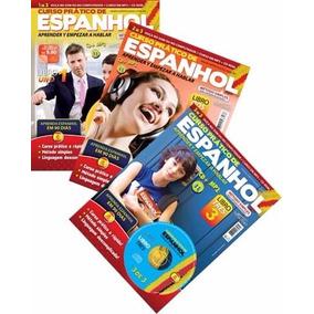 Coleção 3 Revista + 3 Cd Mp3 Curso Prático Espanhol 90 Dias
